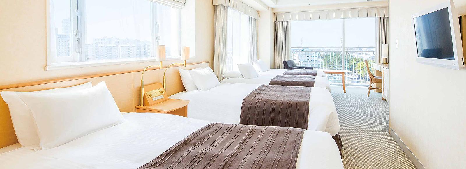 コーナーテラスルーム4人利用|ホテル エミオン東京ベイ